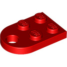 LEGO Red Plate 2 x 3 with Rounded End and Pin Hole (3176)