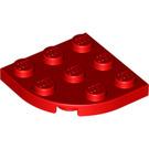 LEGO Red Plate 3 x 3 Round Corner (30357)