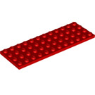 LEGO Red Plate 4 x 12 (3029)