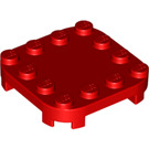 LEGO Red Plate 4 x 4 x 2/3 Circle with Reduced Knobs (66792)