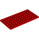 LEGO Red Plate 6 x 12 (3028)