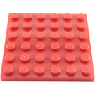 LEGO Red Plate 6 x 6 (3958)