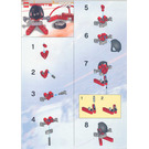 LEGO Red Player and Goal Set 3558 Instructions