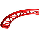 LEGO Red Rail 13 x 13 Curved with Edges (25061)