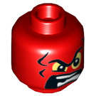 LEGO Red Red Skull Head (Recessed Solid Stud) (25954)