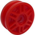 LEGO Red Rim Narrow Ø18 x 7 and Pin Hole with Deep Spokes and Brake Rotor (13971)