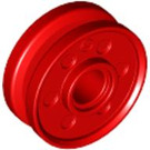 LEGO Red Rim Narrow Ø18 x 7 and Pin Hole with Shallow Spokes (13971 / 56902)