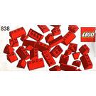 LEGO Red Roof Bricks Parts Pack, 45° Set 838