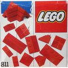 LEGO Red Roof Bricks, Steep Pitch Set 811-1