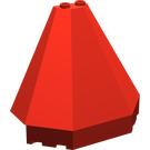 LEGO Red Roof Piece 4 x 8 x 6 Half Pyramid (6121)