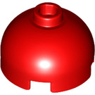 LEGO Red Round Brick 2 x 2 with Dome Top (Hollow Stud with Bottom Axle Holder x Shape + Orientation) (30367)