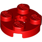 LEGO Red Round Plate 2 x 2 with Axle Hole (with '+' Axle Hole) (4032)