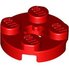 LEGO Red Round Plate 2 x 2 with Axle Hole (with 'X' Axle Hole) (4032)