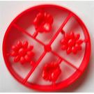 LEGO Red Scala Flowers (4 on Sprue)
