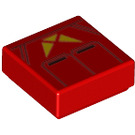 LEGO Red Sith Jet Trooper Tile 1 x 1 with Groove (66812)