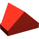 LEGO Red Slope 1 x 2 (45°) Double / Inverted with Bottom Tube (3049)
