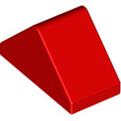 LEGO Red Slope 1 x 2 (45°) Double with Inside Bar (3044)