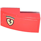 LEGO Red Slope 1 x 2 Curved with Ferrari Logo Left Side Sticker