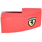 LEGO Red Slope 1 x 2 Curved with Ferrari Logo Right Side Sticker