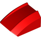 LEGO Red Slope 1 x 2 x 2 Curved (30602)
