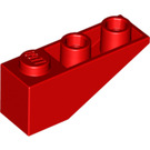 LEGO Red Slope 1 x 3 (25°) Inverted (4287)