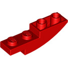 LEGO Red Slope 1 x 4 Curved Inverted (13547)
