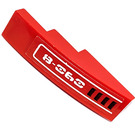 LEGO Red Slope 1 x 4 Curved with '8-060' and Vents (Left) Sticker