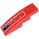 LEGO Red Slope 1 x 4 Curved with Vent hole and blur outlined bubbles Sticker