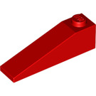 LEGO Red Slope 1 x 4 x 1 (18°) (60477)