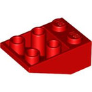 LEGO Red Slope 2 x 3 (25°) Inverted without Connections between Studs (3747)