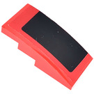 LEGO Red Slope 2 x 4 Curved with Roof decoration left side Sticker