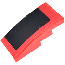 LEGO Red Slope 2 x 4 Curved with Roof decoration right side Sticker