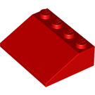 LEGO Red Slope 25° (33) 3 x 4 (3297)