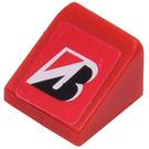 LEGO Red Slope 31° 1 x 1 x 0.66 with Bridgestone Logo Sticker from Set 8168