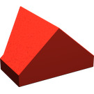 LEGO Red Slope 45° 2 x 1 Double / Inverted with Bottom Tube (3049)