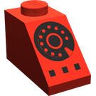 LEGO Red Slope 45° 2 x 1 with Black Rotary Phone Decoration