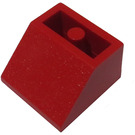 LEGO Red Slope 45° 2 x 2 Inverted with Round Bottom Tube