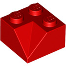 LEGO Red Slope 45° 2 x 2 with Double Concave (Rough Surface) (3046)