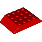 LEGO Red Slope 45° 6 x 4 Double (32083)