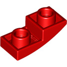 LEGO Red Slope Curved Inverted 1 x 2 x 0.6 (24201)