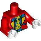 LEGO Red Small Clown Torso (88585)