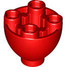 LEGO Red Sphere 2 x 2 x 1 1/3 Inverted (24947)