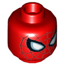 LEGO Red Spider-Man Plain Head (Recessed Solid Stud) (45854)