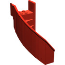 LEGO Red Staircase 6 x 6 x 7.333 Enclosed Curved