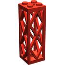 LEGO Red Support 2 x 2 x 5 Lattice Pillar (Complete)