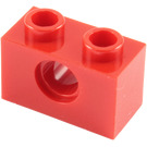 LEGO Red Technic Brick 1 x 2 with Hole (3700)