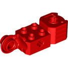 LEGO Red Technic Brick 2 x 2 with Axle Hole, Vertical Hinge Joint, and Fist (47431)