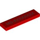 LEGO Red Tile 1 x 4 with AI-XXXXXXXX Unique Game Code (17204)