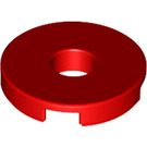 LEGO Red Tile 2 x 2 Round with Hole in Center (15535)