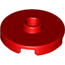 LEGO Red Tile 2 x 2 Round with Stud (18674)